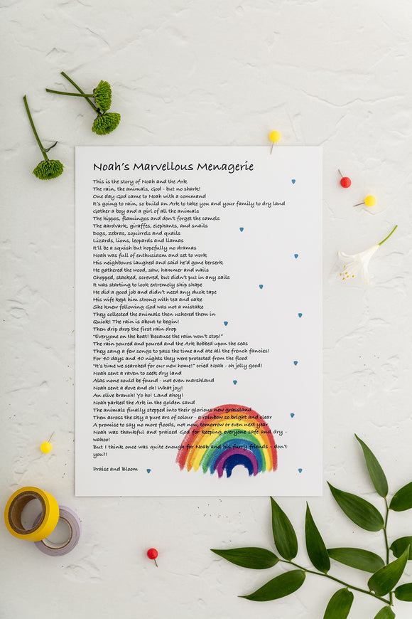 Noah's Marvellous Menagerie Poem
