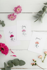 Hope, Grace & Faith Prints