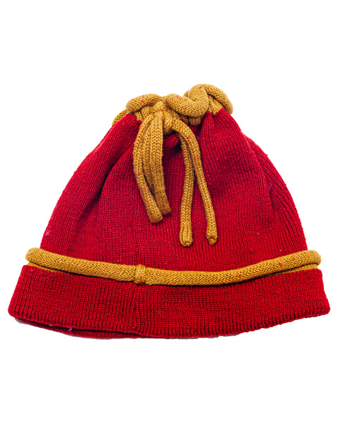 2000s Y2K Drawstring Winter Ski Hat Beanie