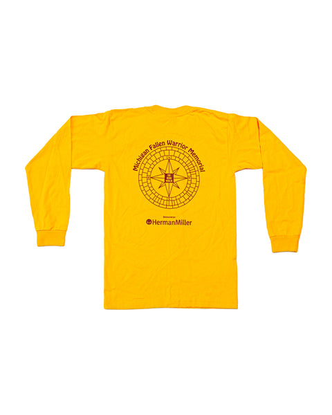 2010s Herman Miller Michigan Fallen Warrior Memorial 5k Long Sleeve T-Shirt