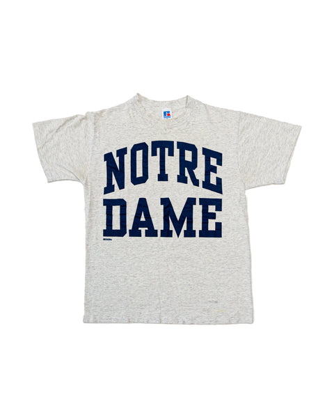 1990s Vintage Notre Dame Single Stitch Russell Athletic T-Shirt