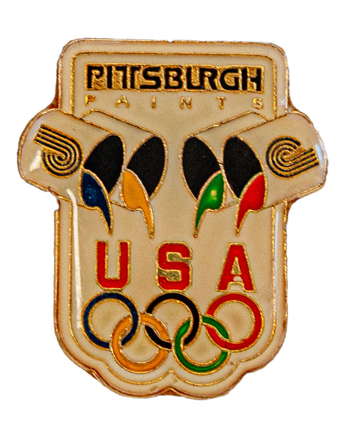 1992 Vintage Pittsburgh Paints Team USA Olympic Enamel Pin
