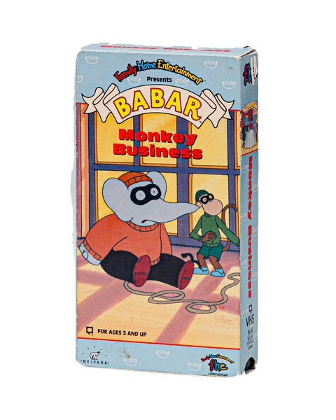1991 Vintage Babar Monkey Business - VHS Tape