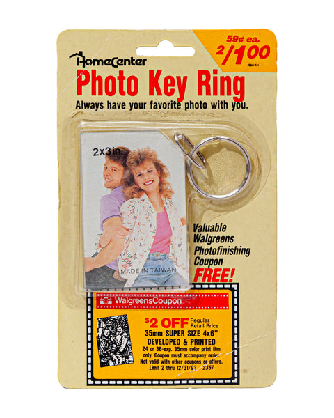 1993 Vintage (NOS) Photo Key Ring