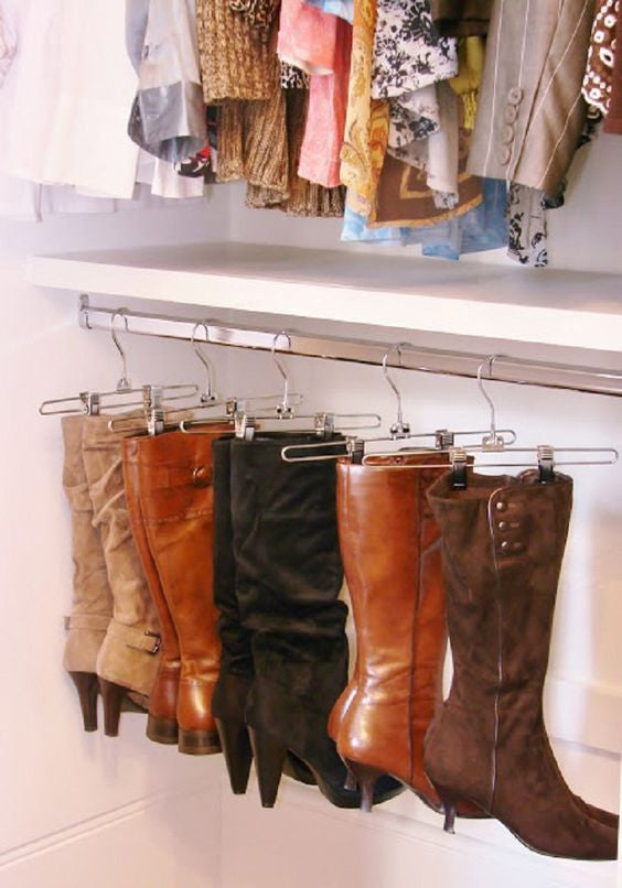 Clever Ways To Store Your Shoes: Boots Edition!