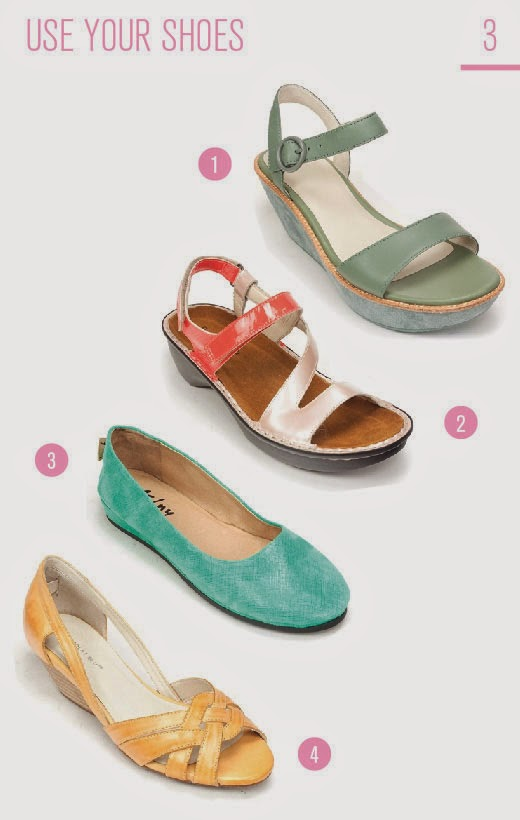 How to Wear Pastels: Use Your Shoes