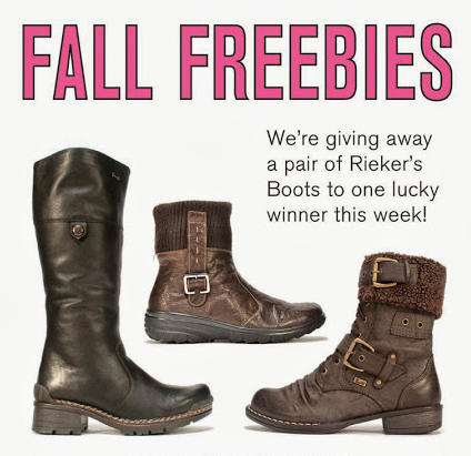 FALL FREEBIES! Rieker Boot Giveaway