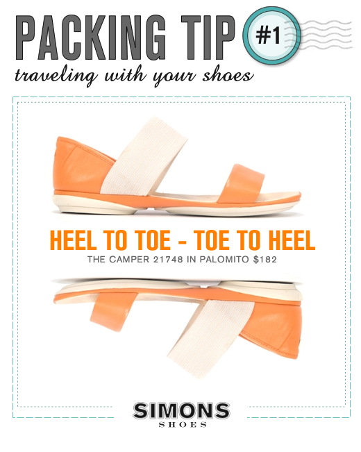 Traveling with your shoes : Tip #1