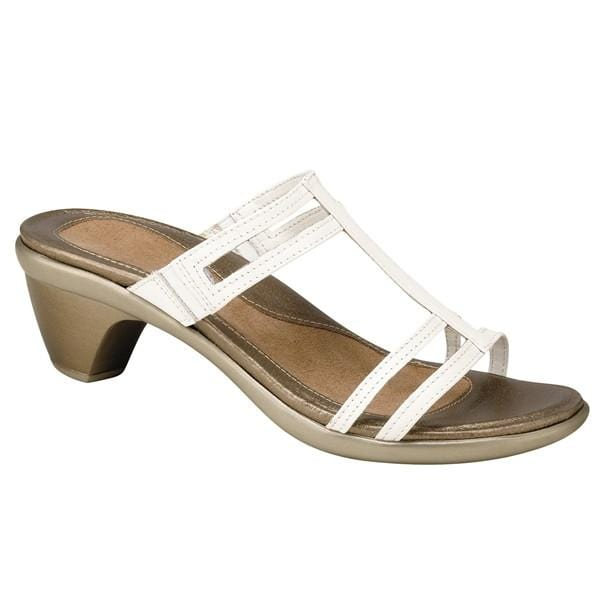 Naot Loop Women's Leather Elegant T-Strap Fashion Sandal Low-Heel Shoe
