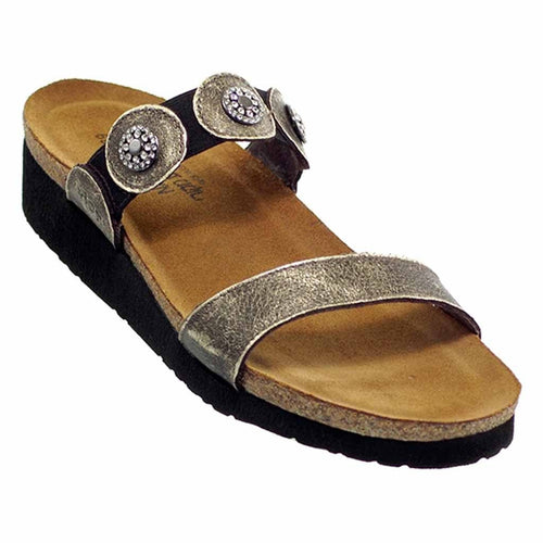 Naot Marissa Women's Ornamented Leather Strap Slide Sandal Dress Shoe