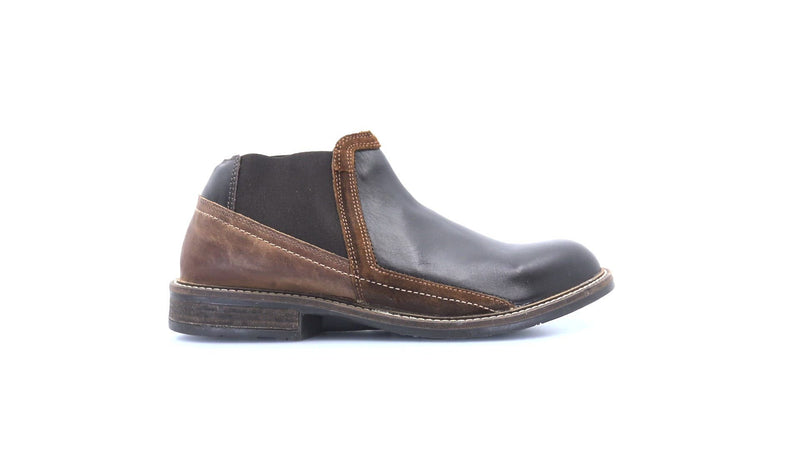 Naot Business Men's Classic Leather Slip On Ankle Boot S7D Roast Saddle/Seal Brown Suede | Simons Shoes