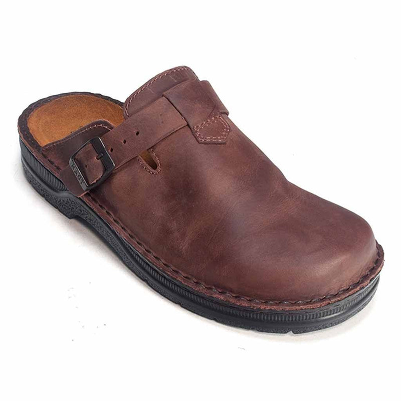 Naot Men's Fiord Cork Footbed Slip Resistant Leather Clog Shoe