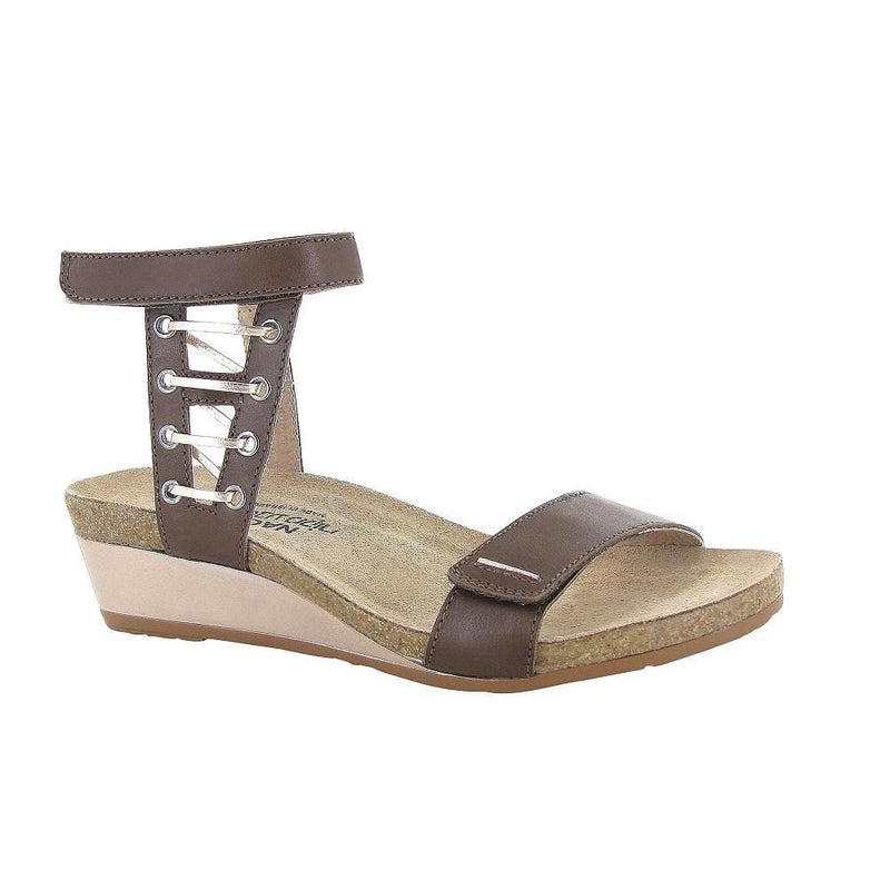 Naot Wizard Women's Leather Metallic Accented Ankle Strap Sandal Shoe Toffee Brown | Simons Shoes