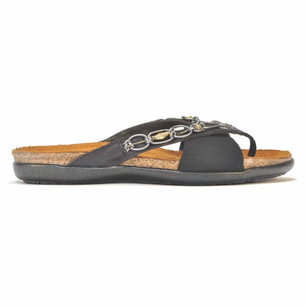 5dbc27b25a77 Naot Jennifer Women s Beaded Leather Stretch Flat Thong Sandal ...