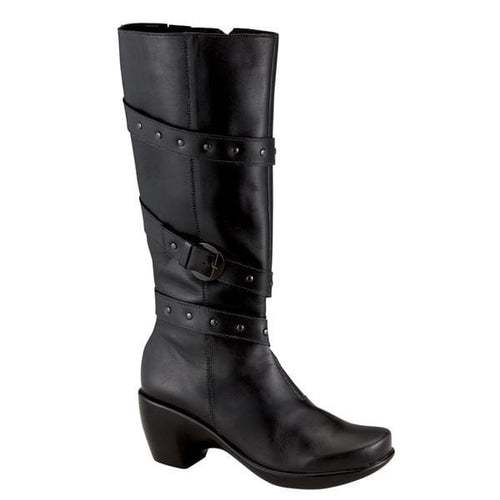Naot Women's Allure Zipper and Gore Knee High Leather Boot Shoe