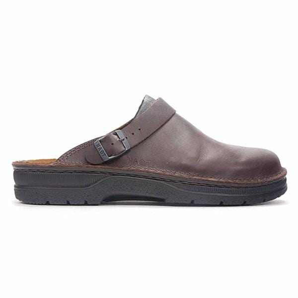 Naot Men's Glacier Leather Contouring Cork Footbed Clog Shoe