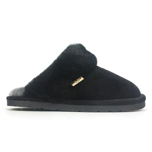 RJ's Fuzzies Unisex 100 Sheepskin Scuff Clog Slipper Shoe