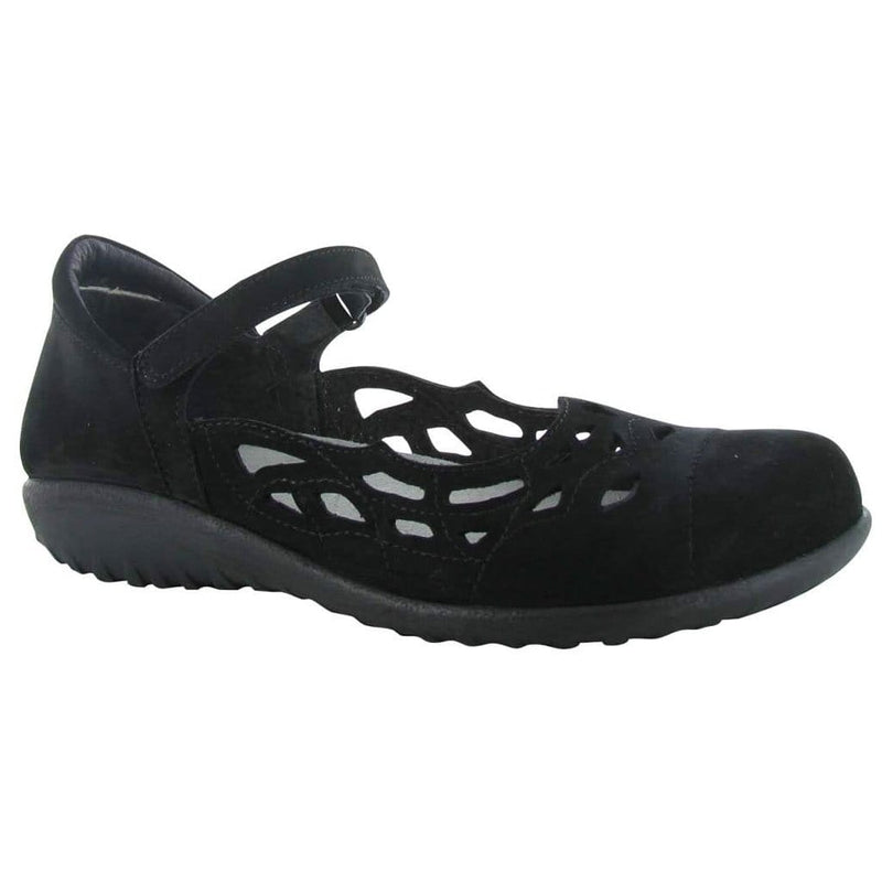 Naot Agathis Women's Leather Cut Out Flat Black | Simons Shoes