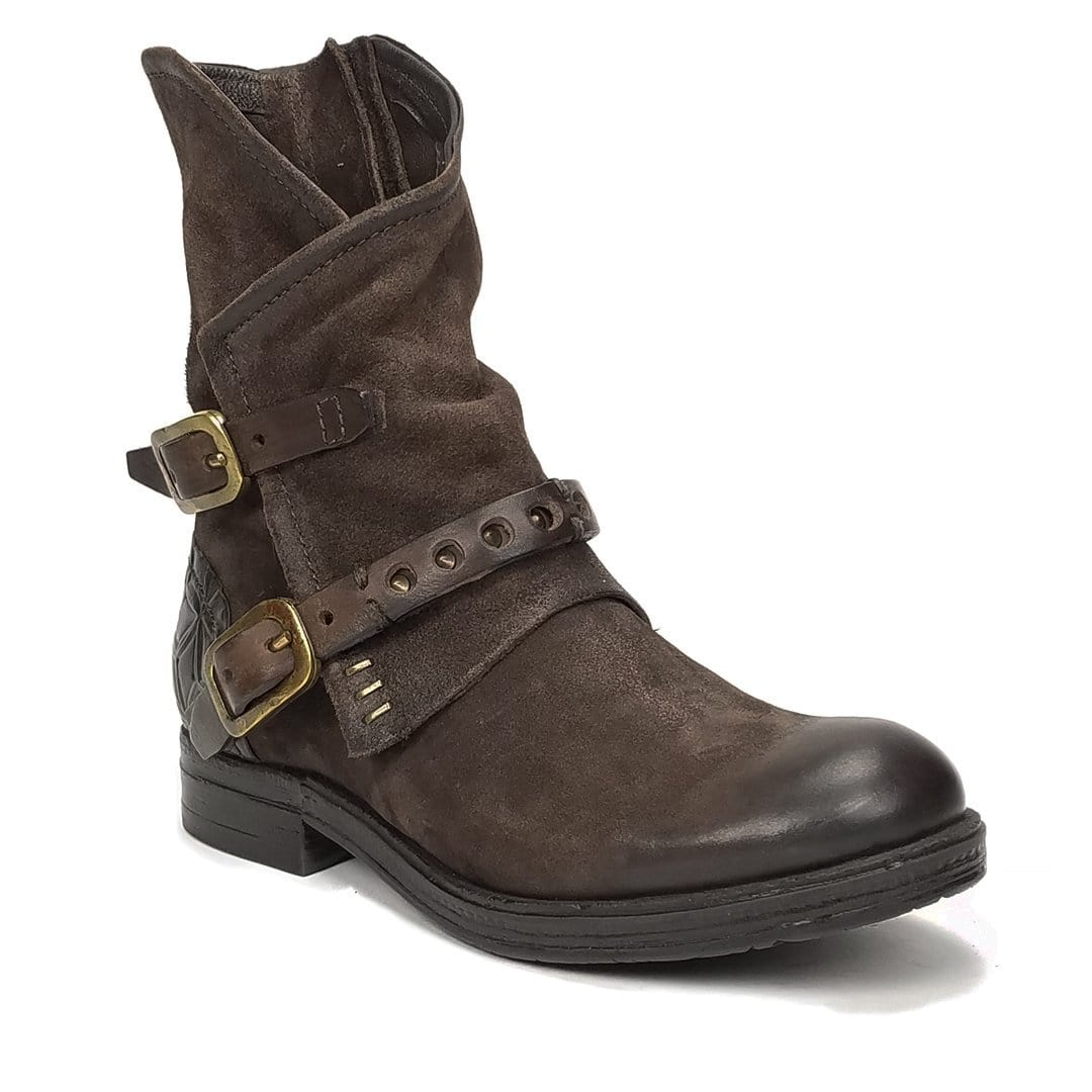 AS98 Ipswitch Women's Cowboy Buckle Accent Bootie Shoe