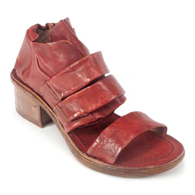 AS98 Kayne Womens Zipper Leather Cutout Bootie Sandal | Simons Shoes