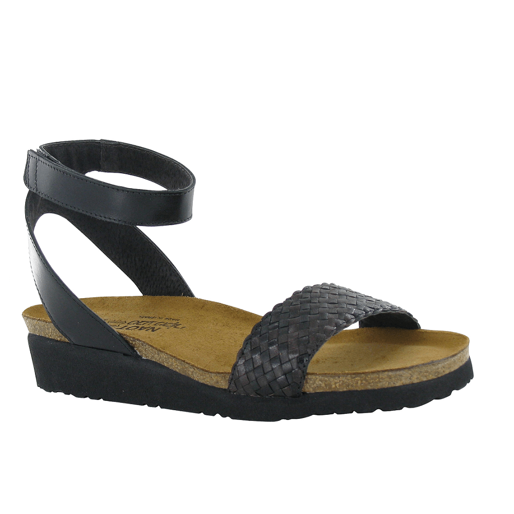 Naot Abbie Womens Ankle Strap Leather Wedge Sandal | Simons Shoes