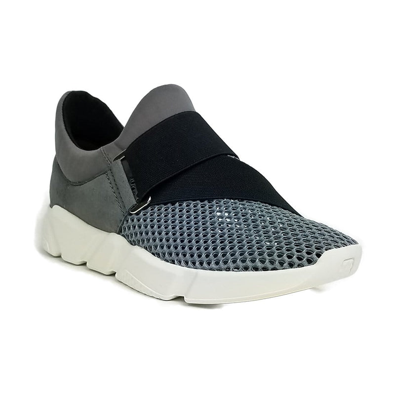 All Black Buckle Mesh II - Womens Slip On Mesh Sneaker - Simons Shoes