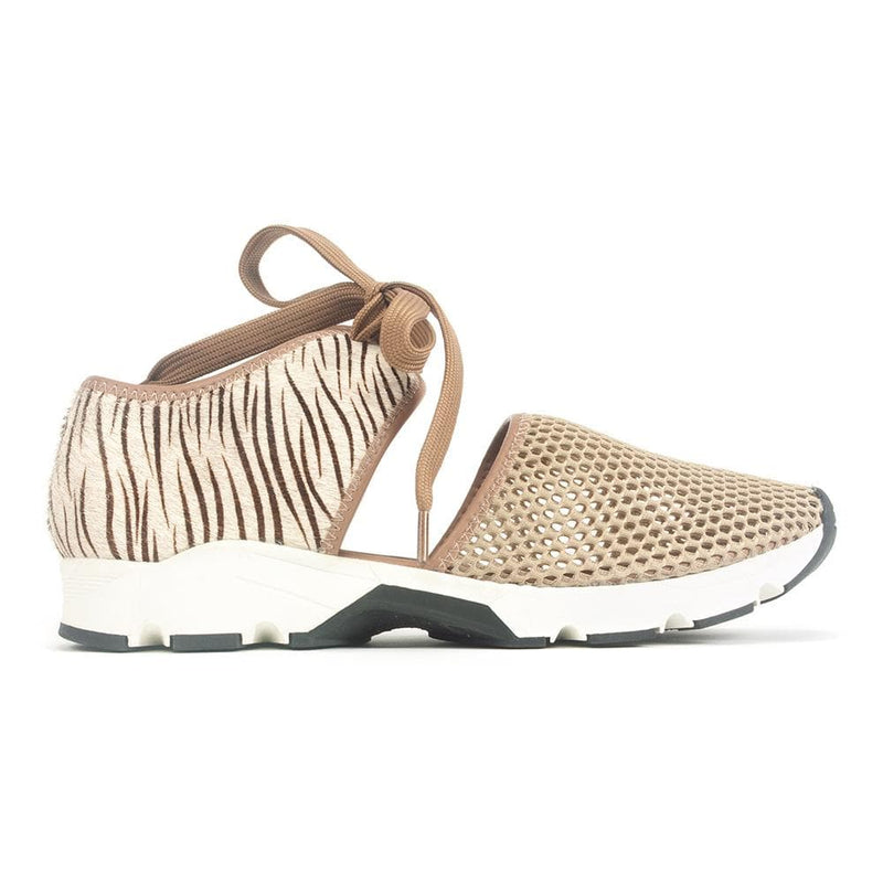All Black Amazing Jungle Women's Leather Mesh Sneaker Taupe | Simons Shoes