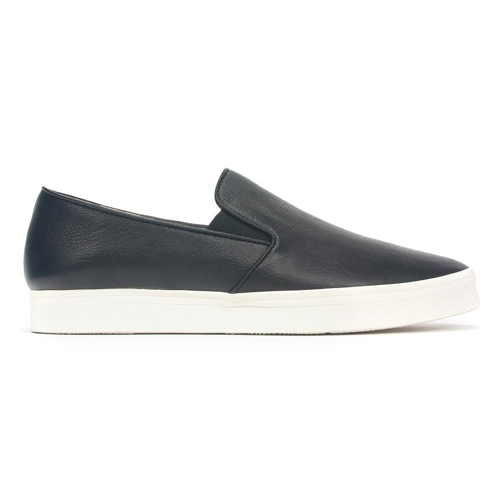All Black PT Slip On Women's Fashion Leather Sneaker | Simons Shoes