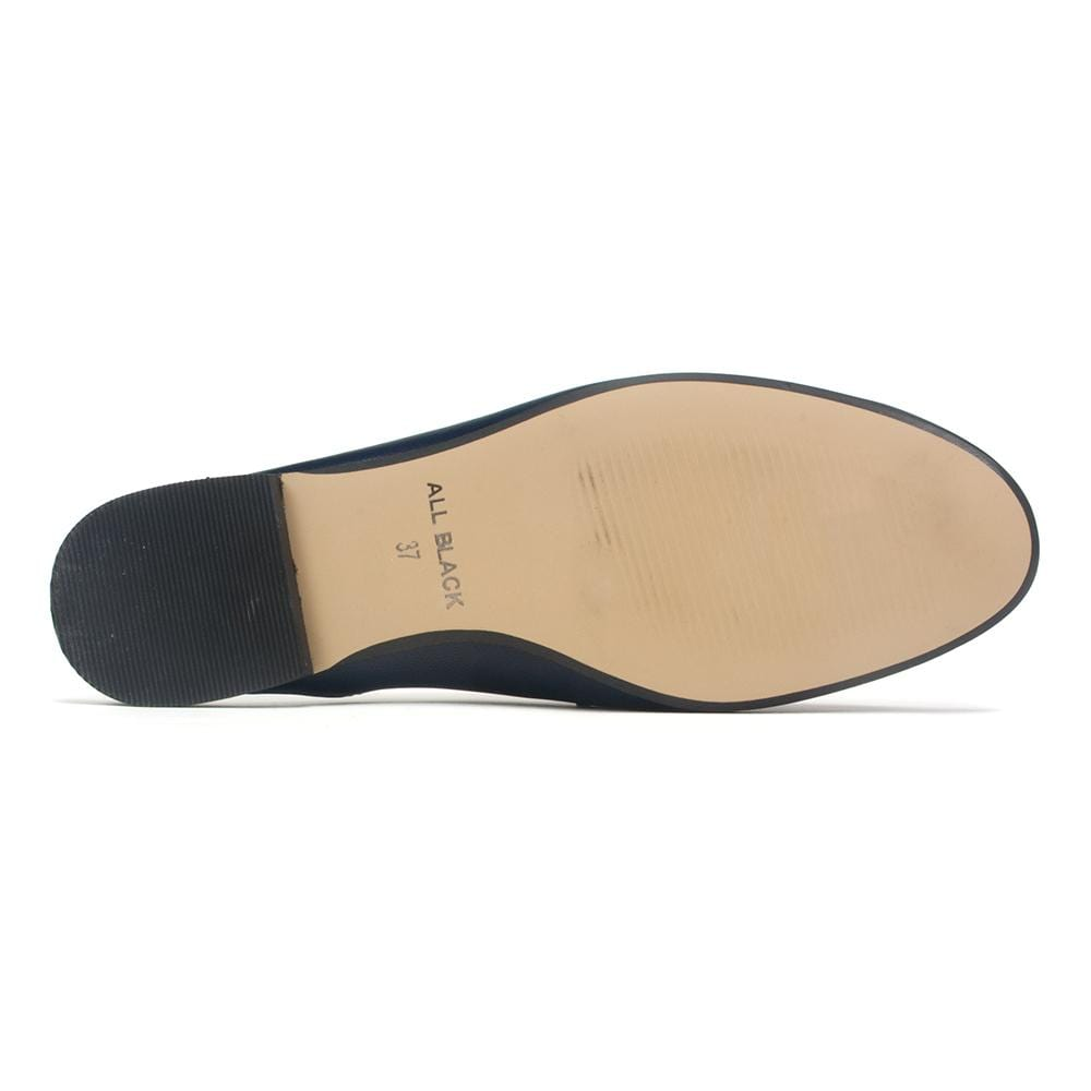 All Black Flat - Women's Pennyfish Leather Slide Mule Sandal | Simons