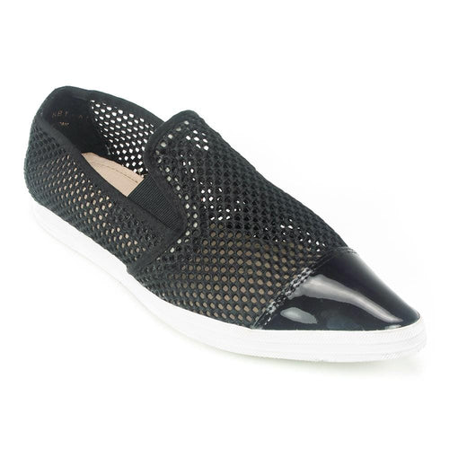 All Black PT Mesh Slip On Women's Fashion Sneaker | Simons Shoes