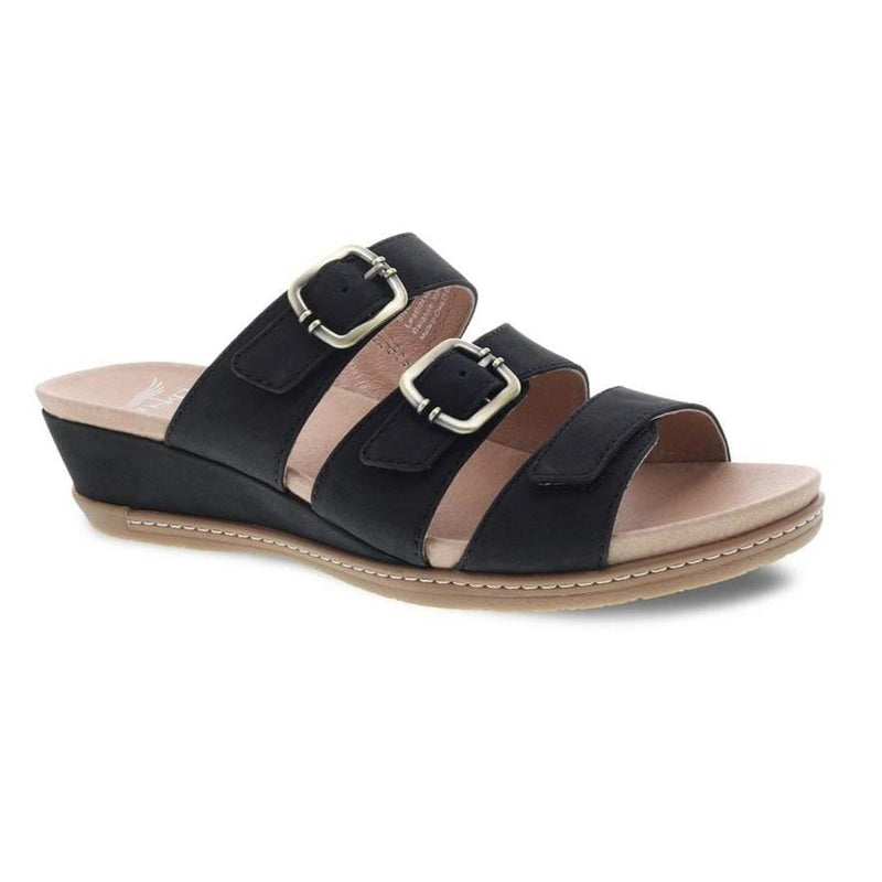 Dansko Allyson Womens Wedge Leather Slide Sandal  | Simons Shoes