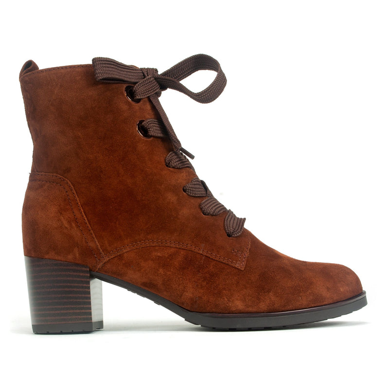 Ara Fargo Women's Lace Up Boot Suede Leather Upper Nuts | Simons Shoes
