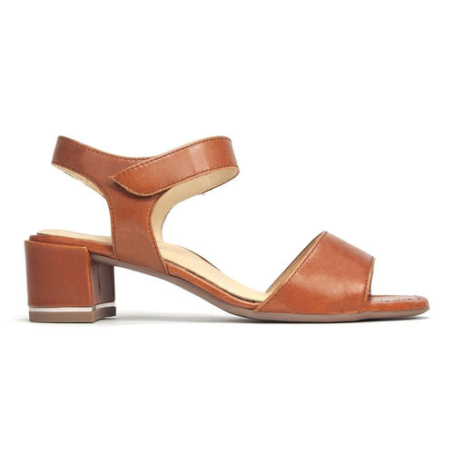 Ara Women's Gaia Leather Heeled Open Toe Sandal Shoe | Simons Shoes