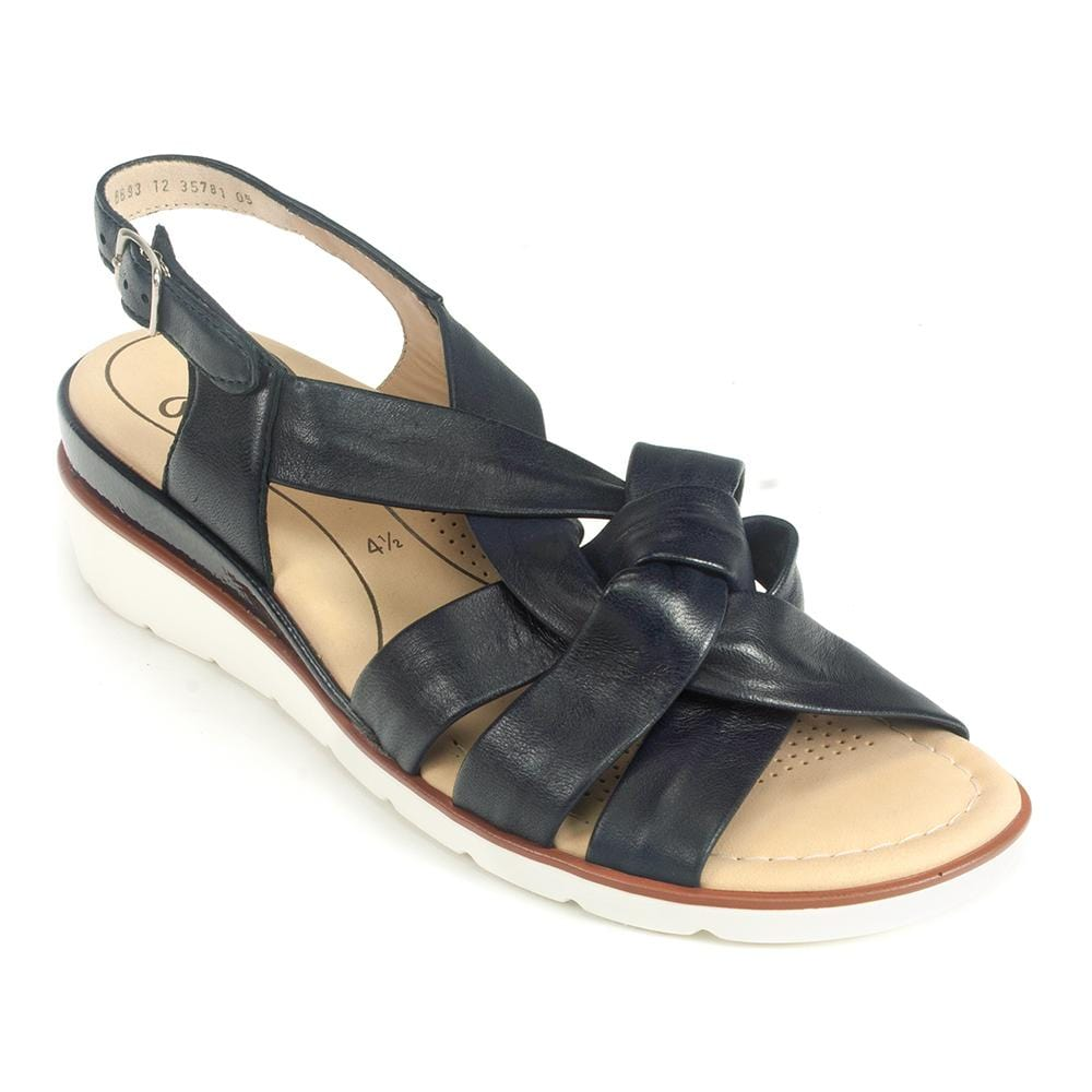 Lucilla Ara Womens Braided Leather Wedge Sandal | Simons Shoes