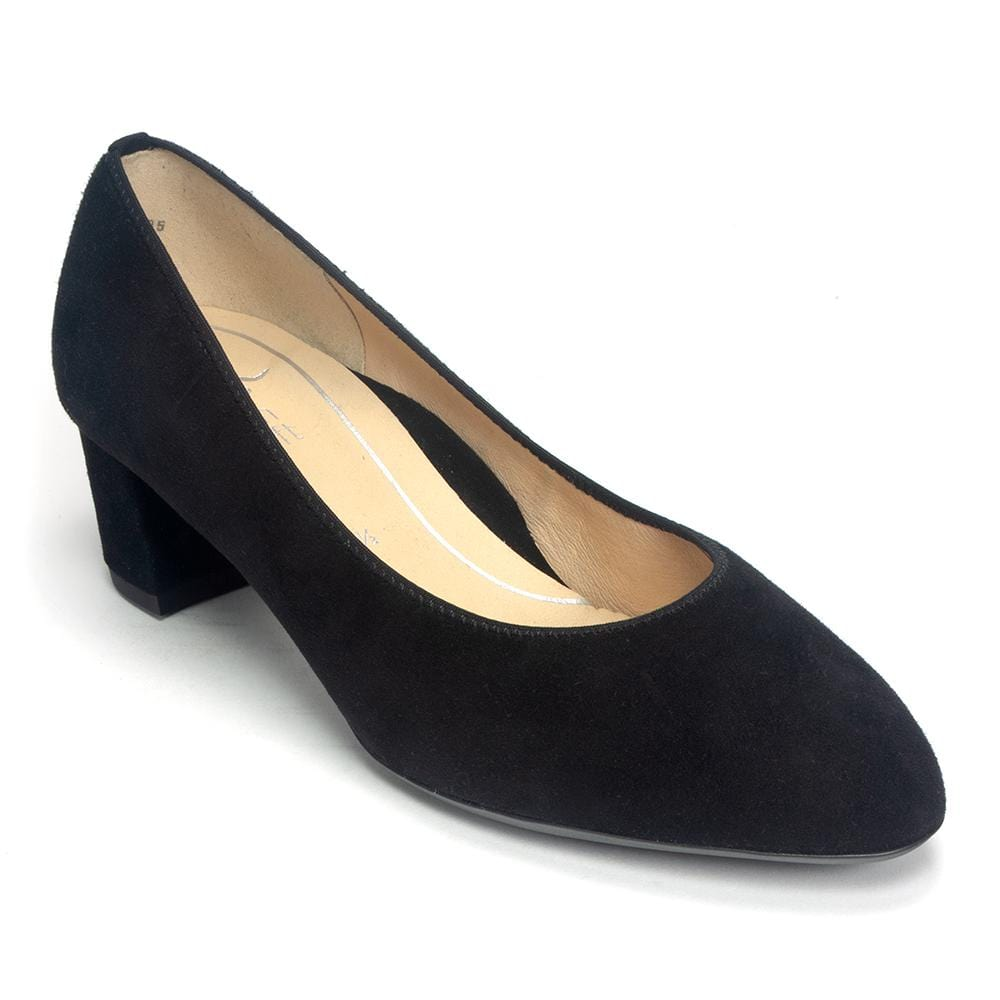 Ara Women's Kendall Classic Suede Covered Heel Pump Shoe- Simons Shoes