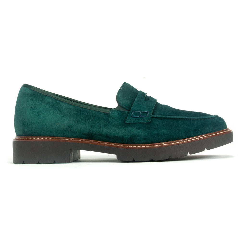 Ara Marlow Women's Loafer Peacock Velour Suede Leather | Simons Shoes