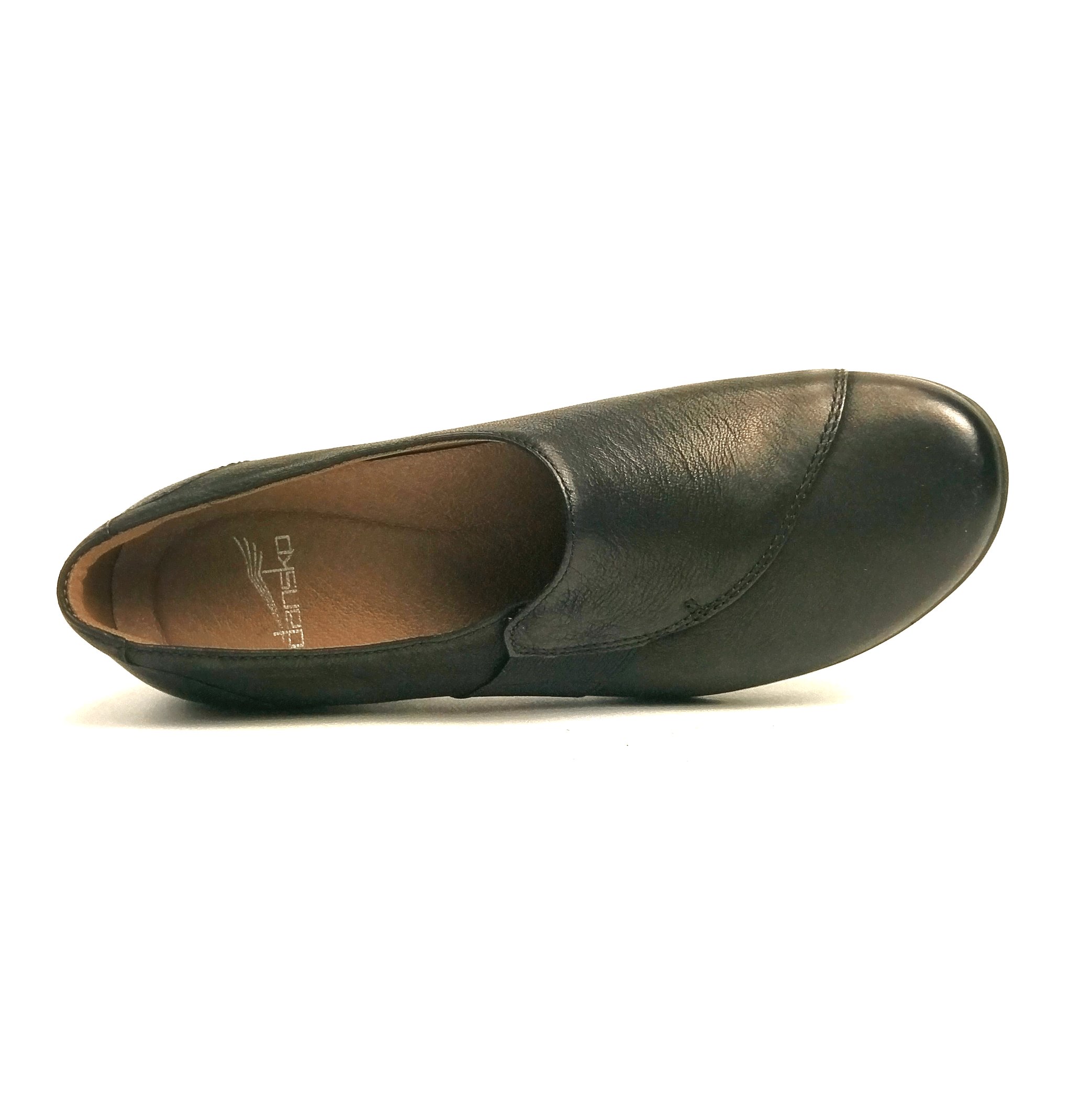 Dansko Fae Women's Leather Hidden Stretch Slip On Loafer Shoe