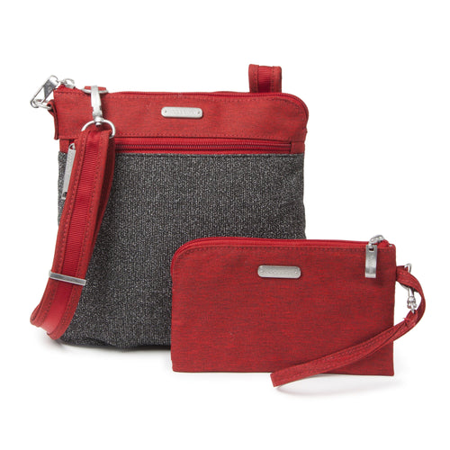 Baggallini ANC355 | Secure Slim Crossbody Locking Travel Bag | Simons