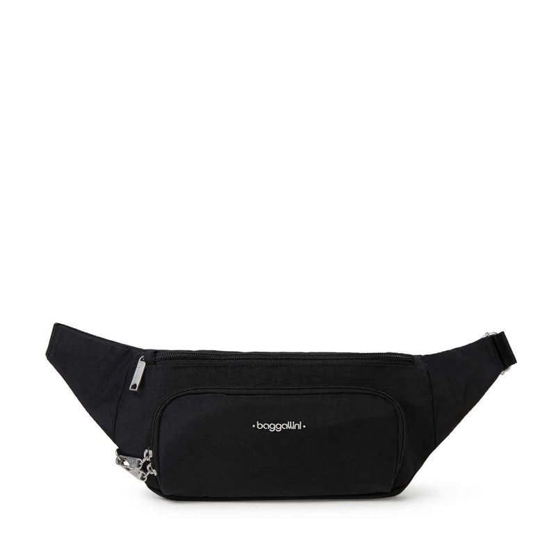 Baggallini Handsfree RFID Waistpack Bag (HWS458) Black | Simons Shoes