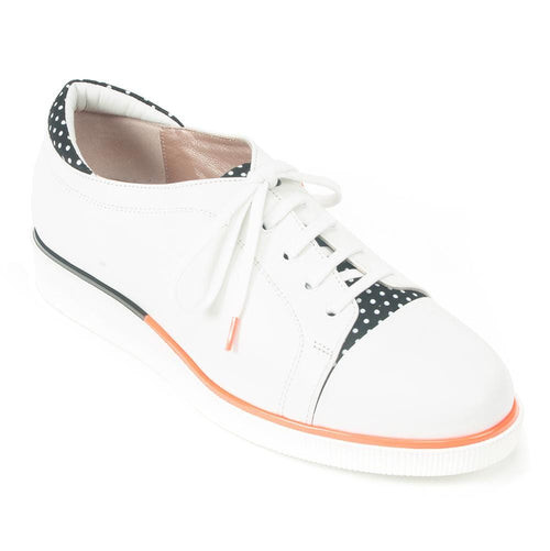 Beautifeel Jane Womens Polka Dot Leather Casual Sneaker | Simons Shoes