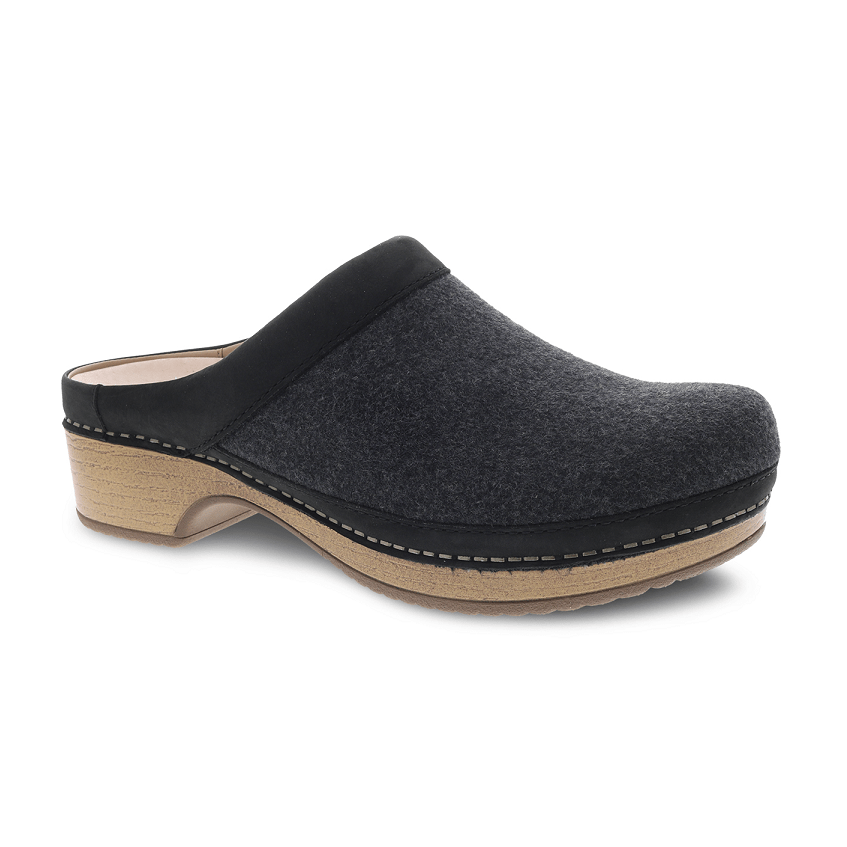 Dansko Bethann Womens Wool Stapled Backless Clog | Simons Shoes