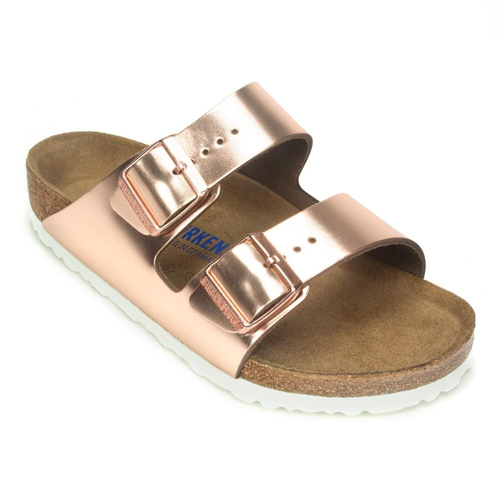 Birkenstock Arizona Soft | Womens Leather Cork Slide Sandal | Simons