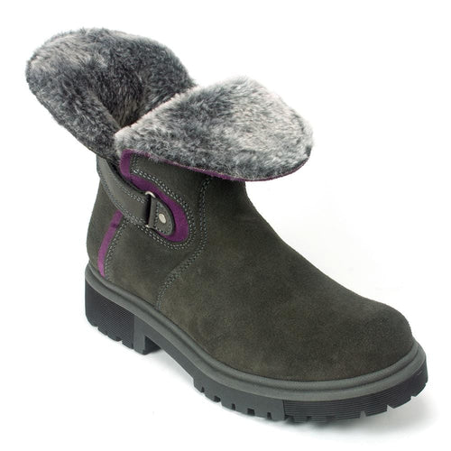 Bos & Co Aden Winter Boot | Dark Grey Fur Lined Waterproof Winter Boot