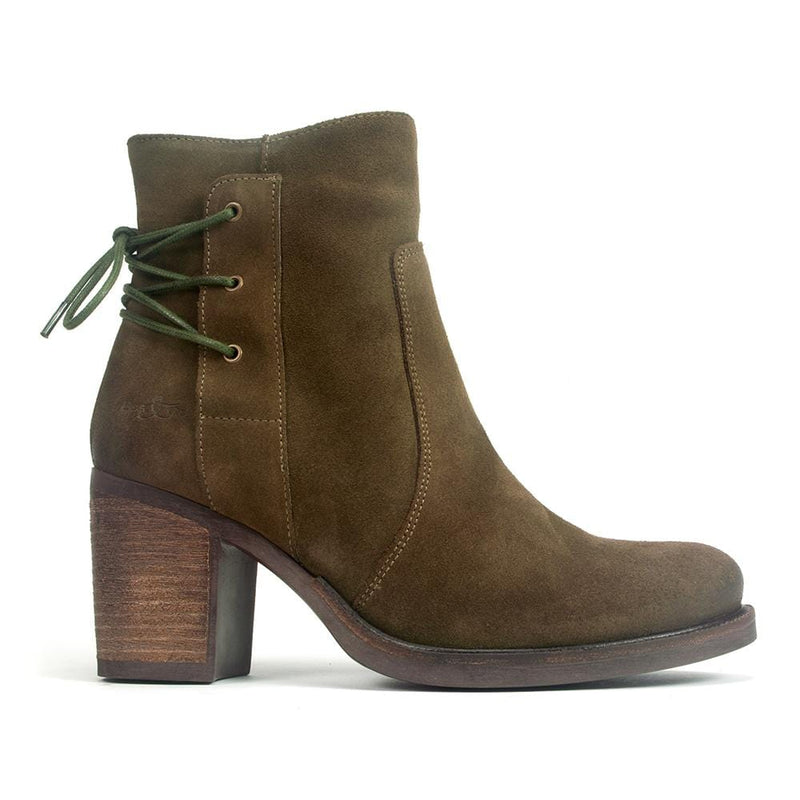 Bos & Co Womens Basal Waterproof Suede High Heel Bootie | Simons Shoes