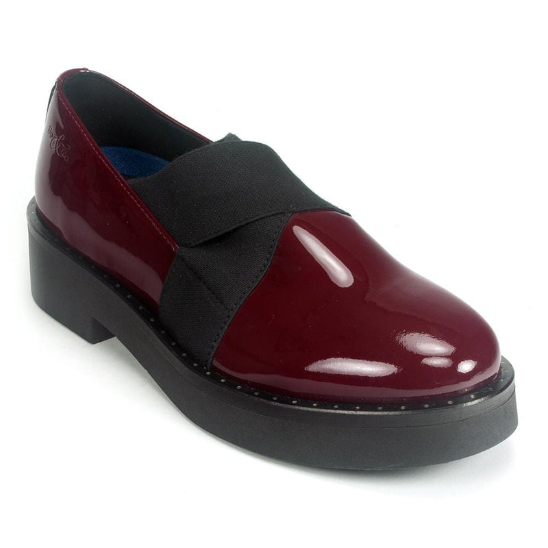 Bos & Co Women's Fancy Waterproof Platform Leather Loafer | Simons