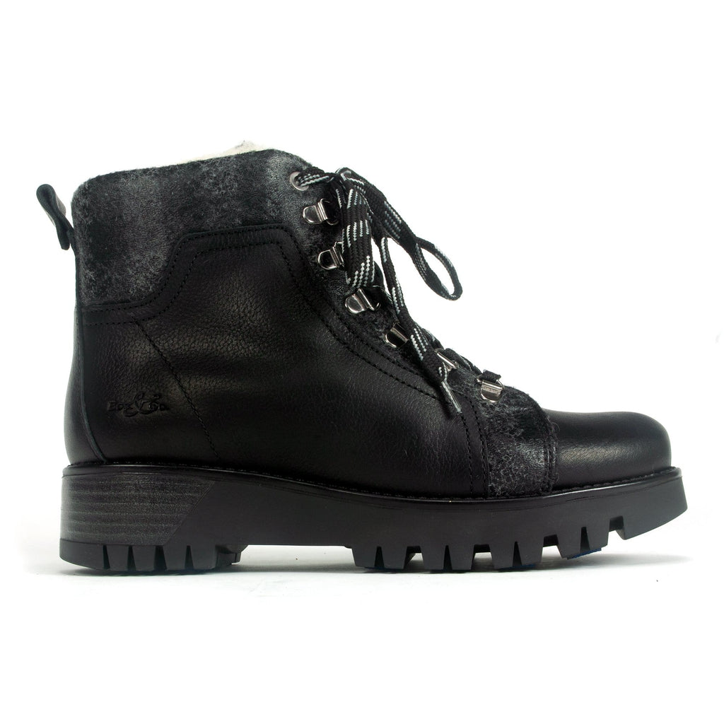 Bos & Co Gallow Prima Women's Leather Boot Cold Weather Black | Simons Shoes