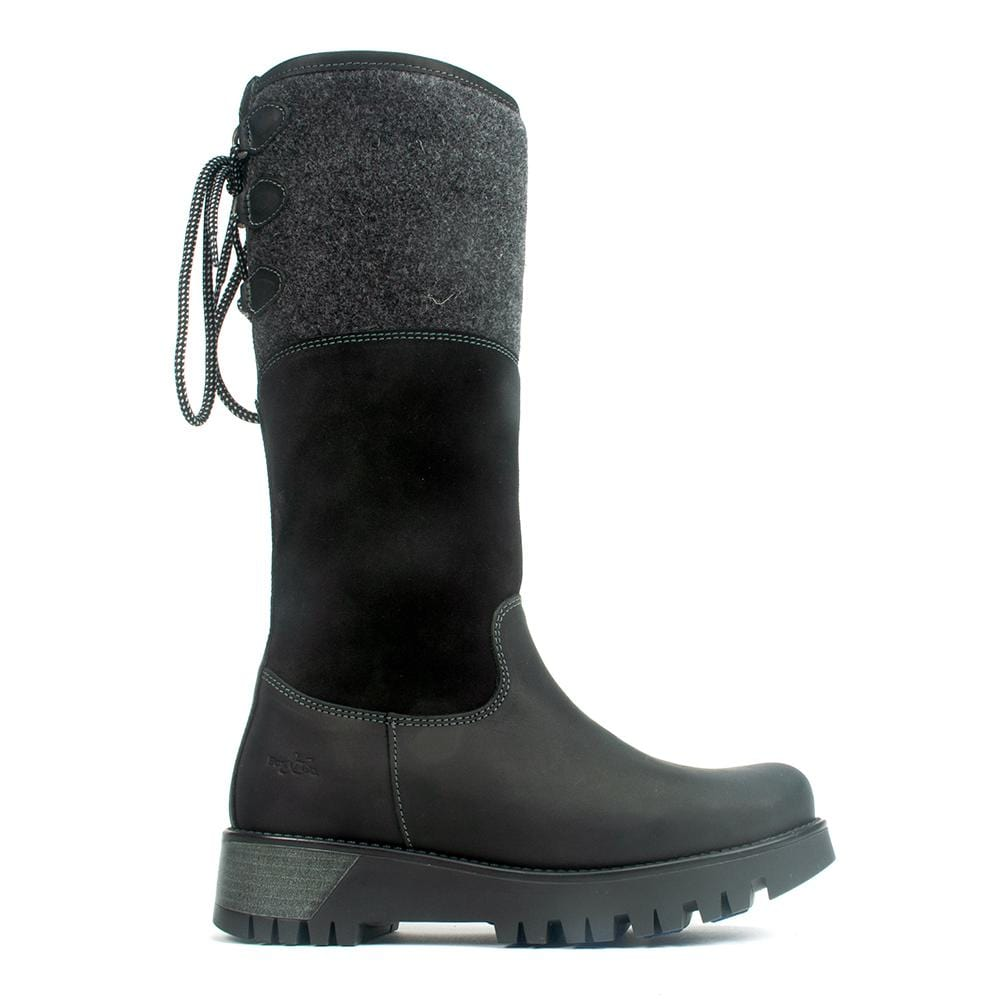 Bos & Co Goose Womens Leather Waterproof Winter Boot Black | Simons Shoes