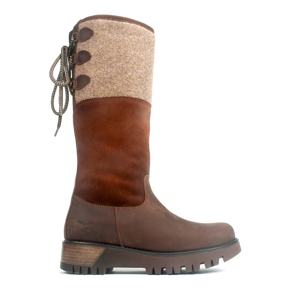 Bos & Co Goose Womens Leather Waterproof Winter Boot Espresso | Simons Shoes