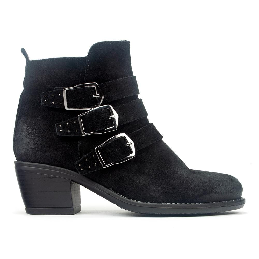 Bos & Co Green Valley Buckled Waterproof Leather Ankle Bootie Shoe