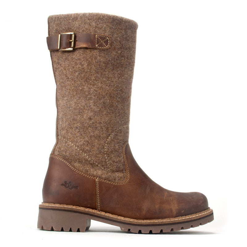 Bos & Co Hammond Mid Calf Leather Lined Waterproof Boot Camel | Simons Shoes